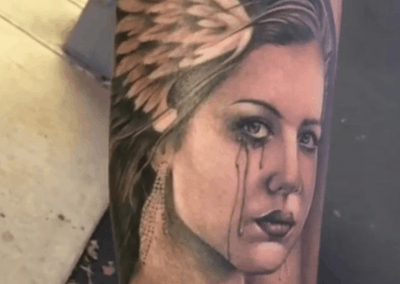 crying lady tattoo