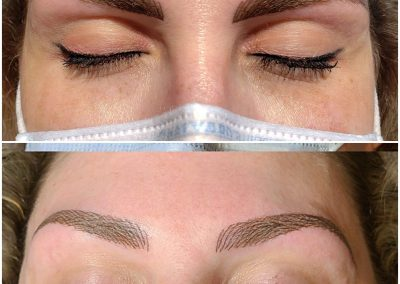 tattoo stages of eyebrow nanoblading