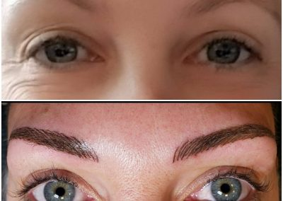 nanobladed eyebrows before and after