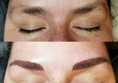 tattooed eyebrows before and after