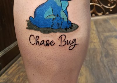 chase bug blue tattoo