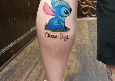 chase bug tatton on calf