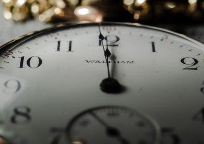 12:00 on clock