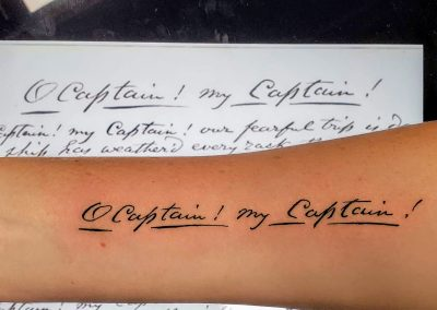O Captain tattoo