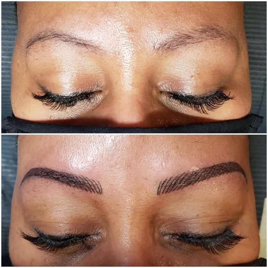 eyebrows nanoblading