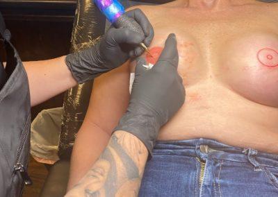 finished areola tattoo