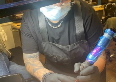 breast cancer survivor receives 3D areola tattoo