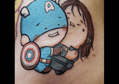 Cartoon Captain America