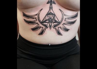 Abdomen tattoo