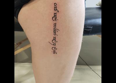 Elvish writing