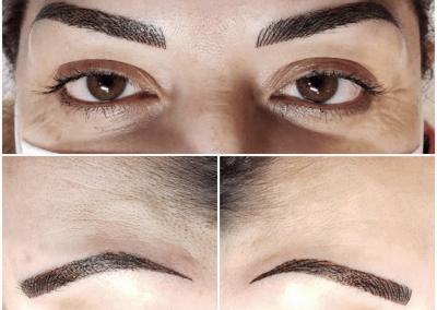 Brown brows trio